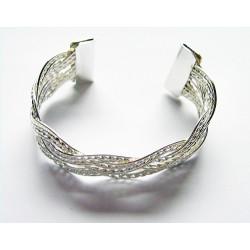 Brett silverarmband
