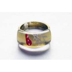 Handmålad ring