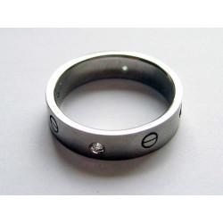 Silverring med cirklar