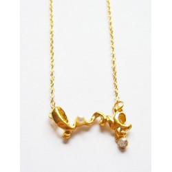Guldband med pärla